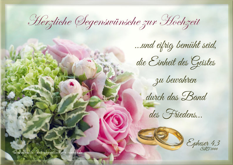 Christliche Segenswünsche Zur Hochzeit Bibelverse Zur